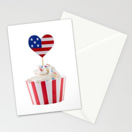 Independence day cupcake Stationery Cards
