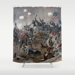 The Battle of Spotsylvania Court House - Civil War Shower Curtain