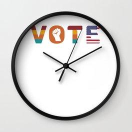 Politics Right to Vote Gift Wall Clock