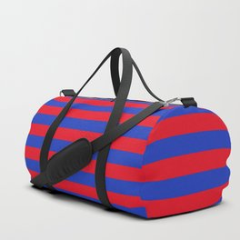 Blue and Red Stripes Duffle Bag