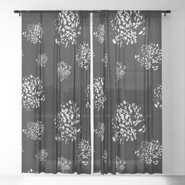 Wild Dots Black Sheer Curtain
