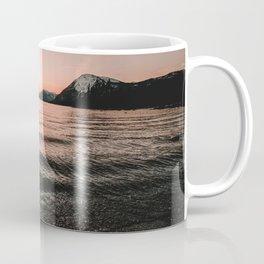 Sunset at the Mountain Lake - Nature Photography Coffee Mug