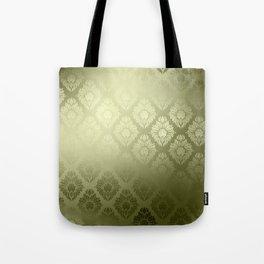 """""""Olive Damask Pattern"""" Tote Bag"""
