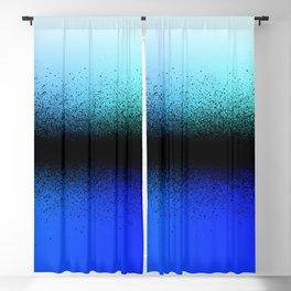 Black Dust on Blue Blackout Curtain