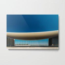 Portuguese National Pavilion In Lisbon, Alvaro Siza Vieira, Wall Art Print, Modern Architecture Art Metal Print