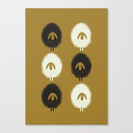 Sheep ochre Canvas Print