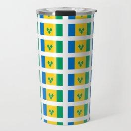 flag of Saint Vincent and the Grenadines-Saint Vincent,Grenadines,Vincentian, Vincy,Kingstown Travel Mug