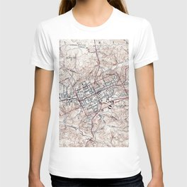 Vintage Map of Chapel Hill North Carolina (1946) T-shirt