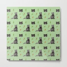 Raccoon pattern Metal Print