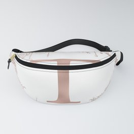 Letter T Rose Gold Pink Initial Monogram Fanny Pack