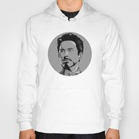 tony stark Hoodies featuring Tony Stark by Hazel