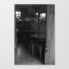 Street Photo - Old Home - Black and White Canvas Print
