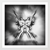 angels Art Prints featuring Angels by haroulita