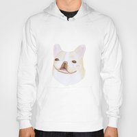frenchie Hoodies featuring Frenchie by belgoldie