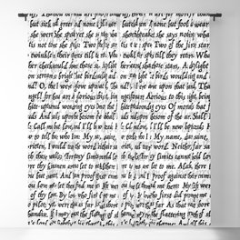 Love Letter Shakespeare Romeo & Juliet Pattern Blackout Curtain