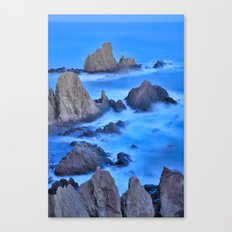 Blue sunset at the Sirens Canvas Print