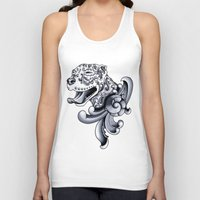 pit bull Tank Tops featuring Ornamental Pit Bull by Pretty In Ink
