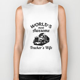 worlds most awesome truck t-shirts Biker Tank