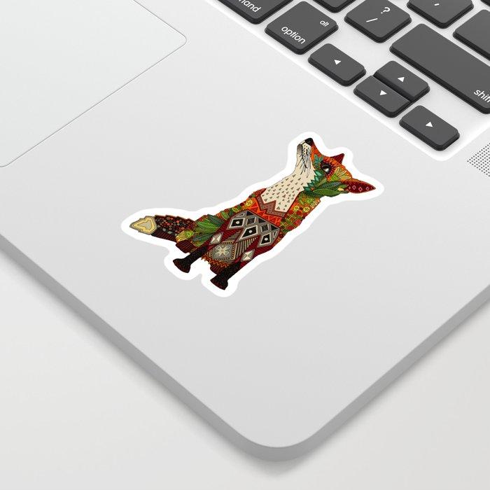 fox love off white Sticker