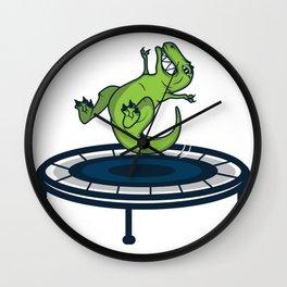 Dinosaur T-Rex Trampoline Funny Kids Gift Wall Clock
