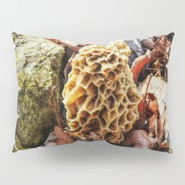 Morel Mushroom in the Wild Pillow Sham