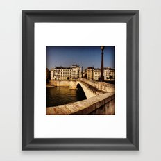 Bridges of Paris - Ile Saint Louis Framed Art Print