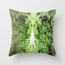 With arms Outstretched Throw Pillow