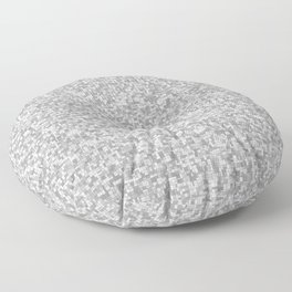 grayscale treemap mosaic Floor Pillow