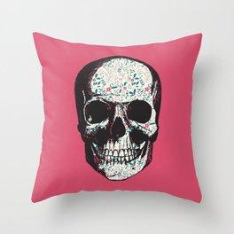 R-Skull Throw Pillow