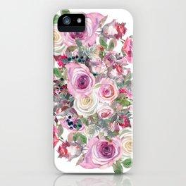 Bouquet of rose - wreath iPhone Case