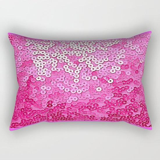 Party Pink Sequins Rectangular Pillow