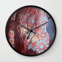 Constellation of Wood Wall Clock