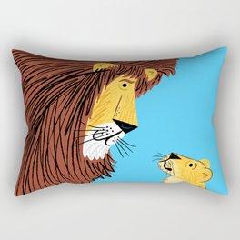 Listen To The Lion Rectangular Pillow