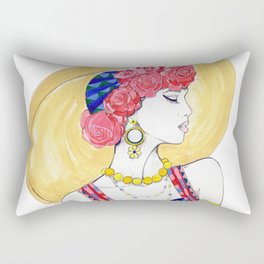 Fashion Illustration - Summer Rectangular Pillow