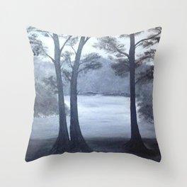 Lake mornings Throw Pillow