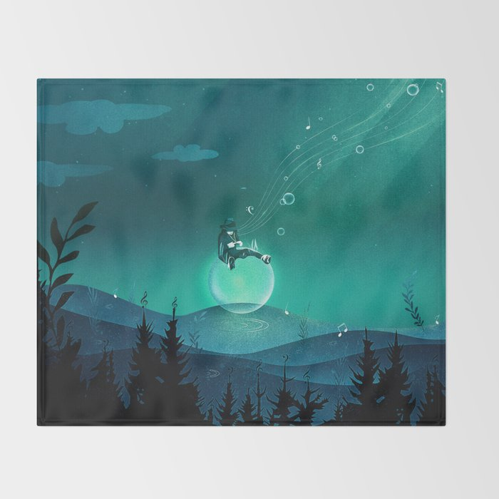 Comfortably Numb Throw Blanket