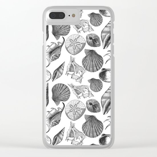 Sea and Ocean Life-Shell Pattern-Mix & Match with Simplicity of life Clear iPhone Case