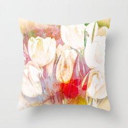 Tulip Fever Abstract Art Throw Pillow
