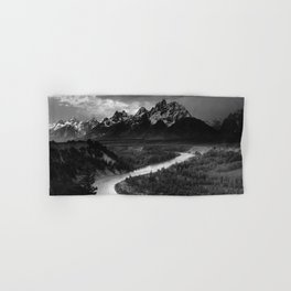 Ansel Adams - The Tetons and Snake River Hand & Bath Towel