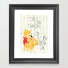 I do nothing every day Framed Art Print