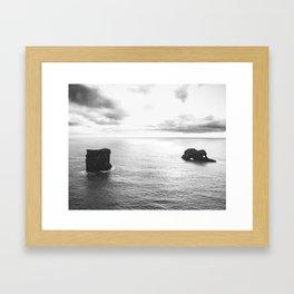 Lava Pillars II Framed Art Print