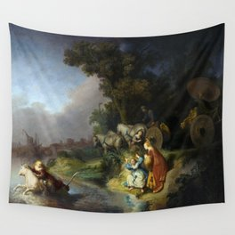 "Rembrandt Harmenszoon van Rijn, ""The Abduction of Europa"", 1632 Wall Tapestry"
