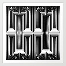 Art Deco 32 . Graffiti black and white Art Print
