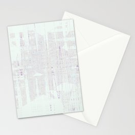 Weird looking shape that acts like a ghost on white calm background Stationery Cards