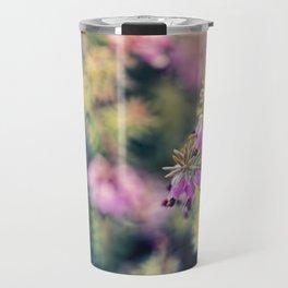 Pink Heather Flower Travel Mug