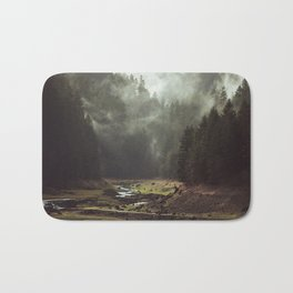 Foggy Forest Creek Bath Mat