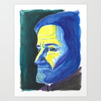 robin williams Art Prints featuring Robin Williams by Heather Davies-Devoe