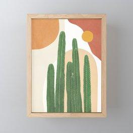 Abstract Cactus I Framed Mini Art Print