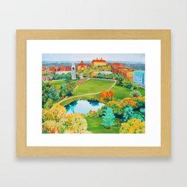 Mount Oread Framed Art Print