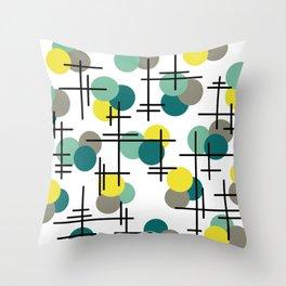 Atomic Age Molecules Throw Pillow